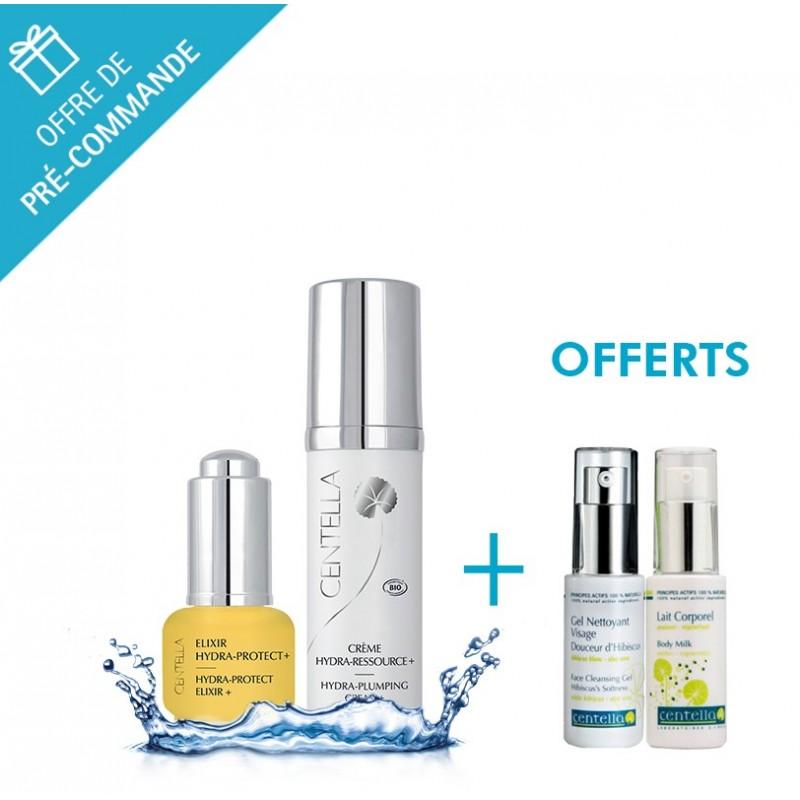 Duo Crème Hydra-Ressource+ et Elixir Hydra Protect + - Centella + gel et lait